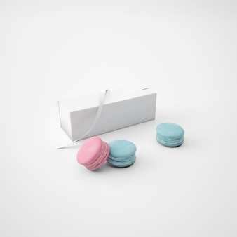 White package with macarons