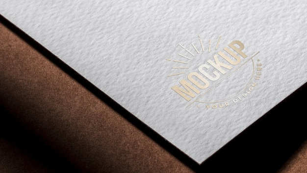 White paper business card mock-up