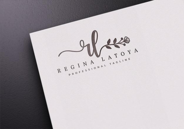 White paper logo макет