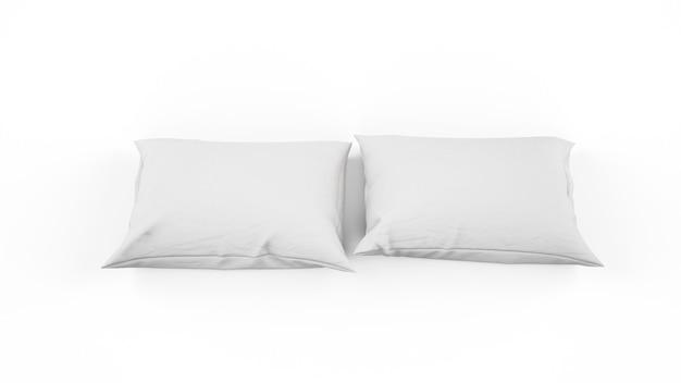 고립 된 흰 베개