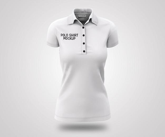 白いポロシャツの3dリアルなモックアップ