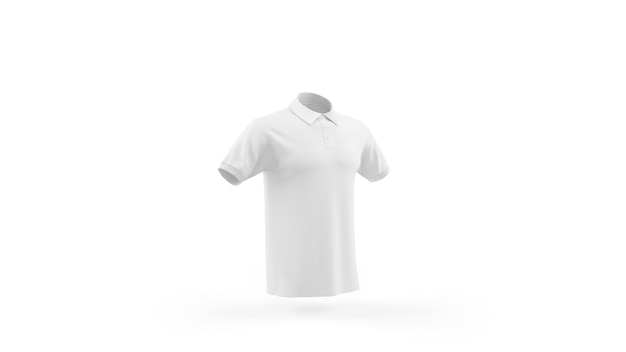 Шаблон макета белой рубашки поло, вид спереди