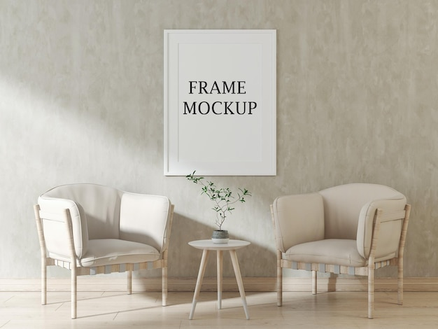 White poster frame mockup for your pictures