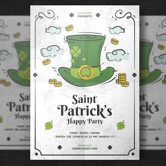 White poster mockup for st patricks day