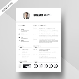 White resume template