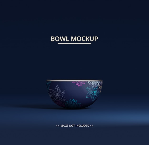 White round bowl mockup