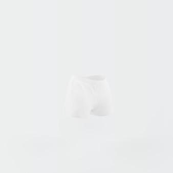 White shorts floating on white