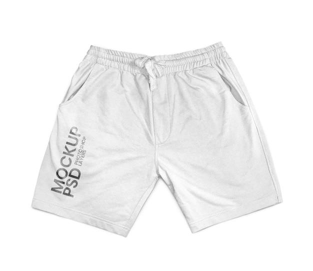 White shorts isolated mockup realistic