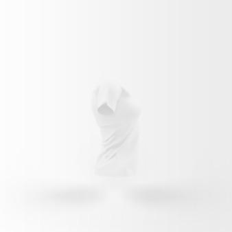 티셔츠의 흰색 실루엣