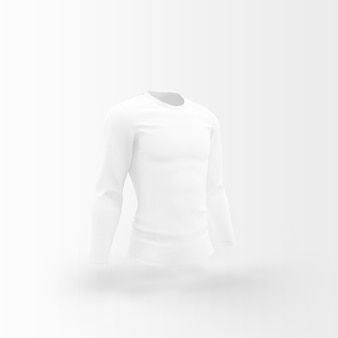 White silhouette of t shirt