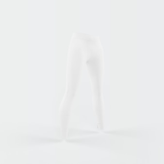 White silhouette of trousers