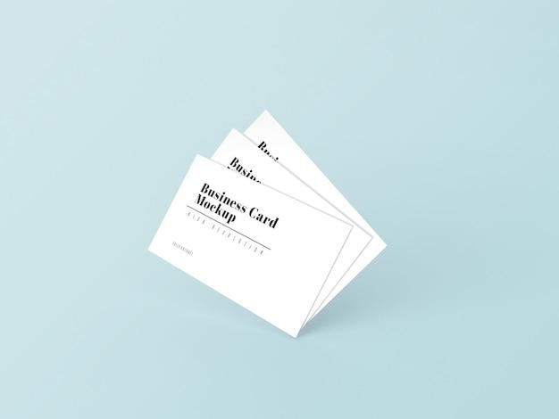 흰색 간단한 3d 명함 모형 프리미엄 PSD 파일