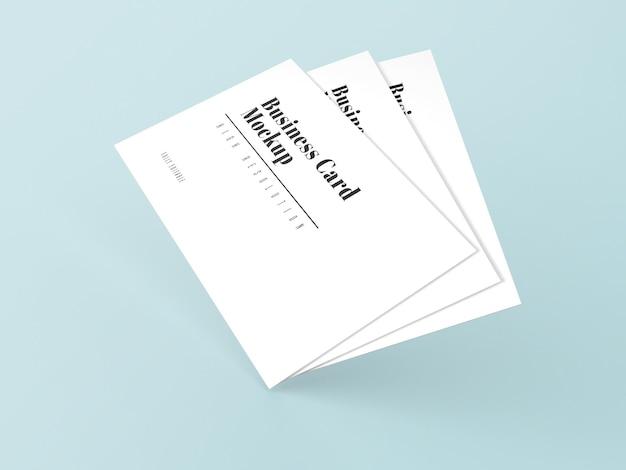 흰색 간단한 3d 명함 모형