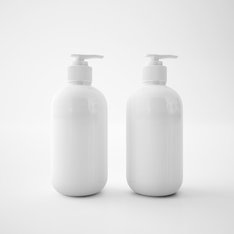 White soap containers