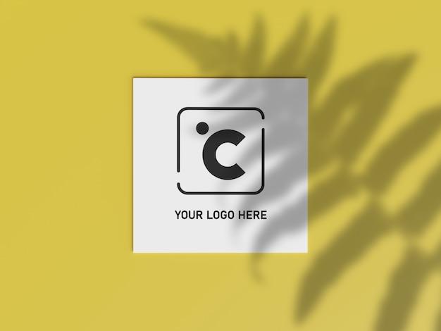 White square shape paper mockup. branding presentation template print.