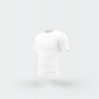 Белая футболка, плавающая на белом