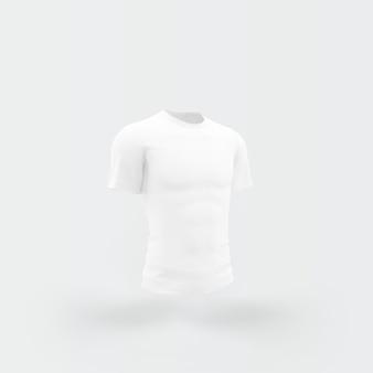 흰색에 떠있는 흰색 티셔츠