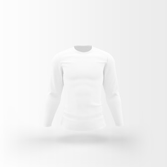 White t-shirt floating on white