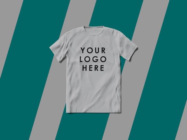 White t-shirt mockup isolated