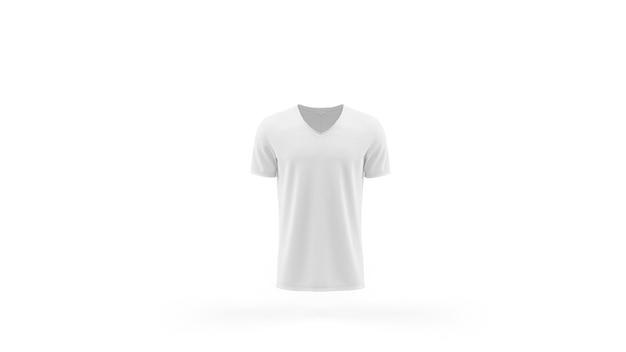 흰색 티셔츠 이랑 템플릿 절연, 전면보기