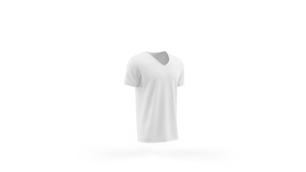 White t-shirt mockup template isolated, front view