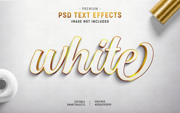 White text effect generator