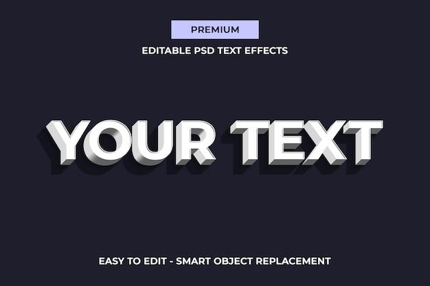 Генератор макетов белых текстовых эффектов