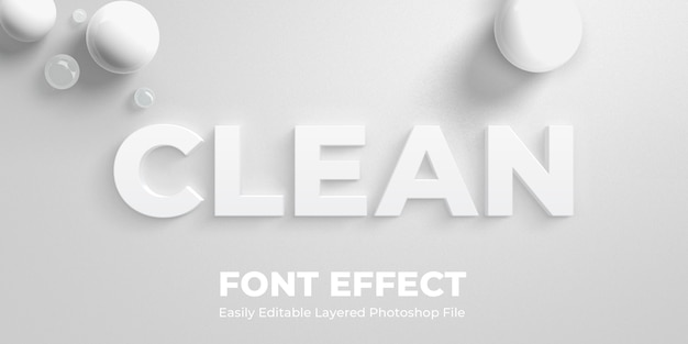 White text style effect mockup
