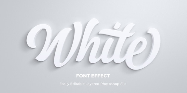 White text style effect template