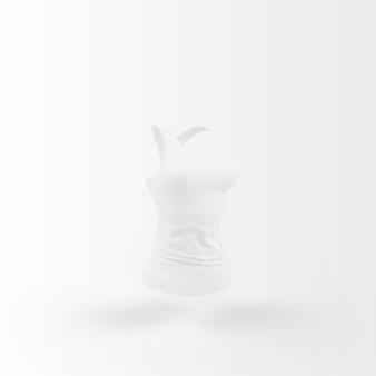 흰색 위에 떠있는 흰색 상단