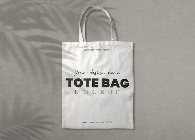 White tote bag mockup