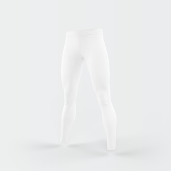 White trousers floating on white