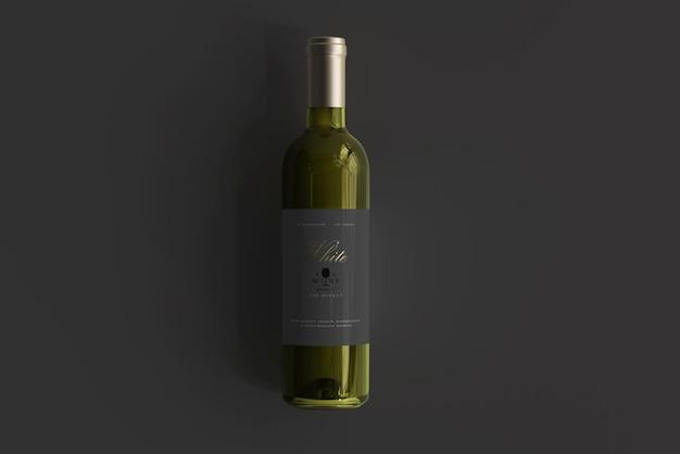 Мокап бутылки белого вина