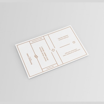 White with golden elements business card mock up