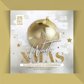 White xmas christmas party flyer
