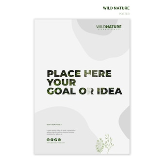 Why wild nature poster template
