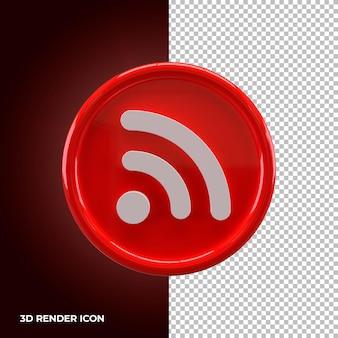 Значок рендеринга беспроводной сети wi-fi премиум psd