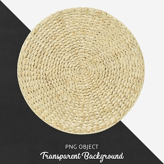 Wicker round service on transparent background