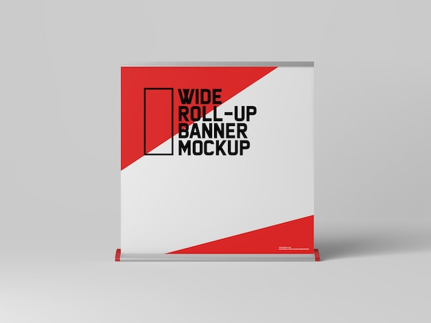 Wide roll-up banner mockup