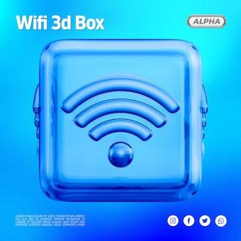 Wifi 3d стеклянная коробка
