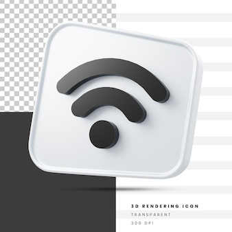 Wi-fi социальные сети 3d рендеринга значок