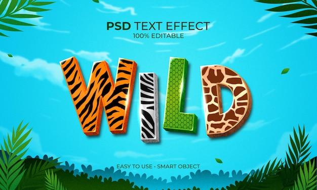 Wild animals text effect