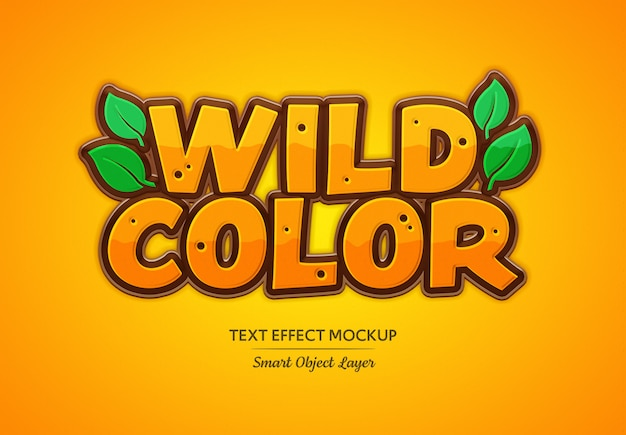Wild color text effect mockup
