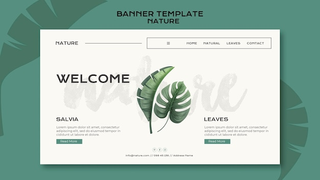 Wild nature banner template