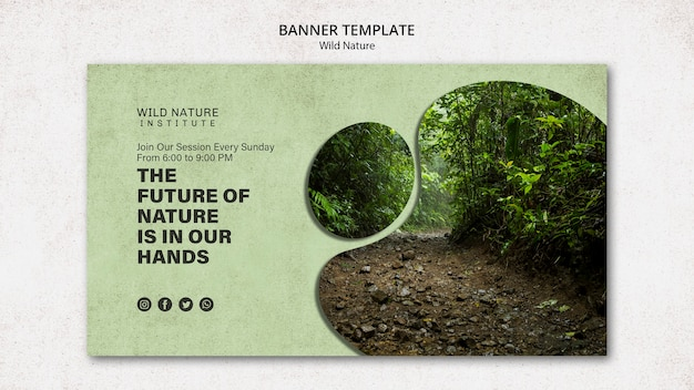 Wild nature concept for banner template