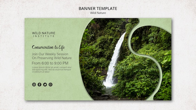 Wild nature design for banner template