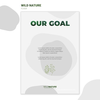 Wild nature environment flyer template