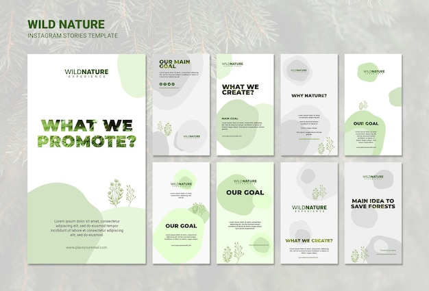 Wild nature instagram stories template