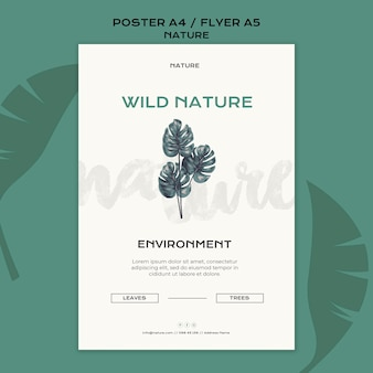 野生の自然のポスターテンプレート