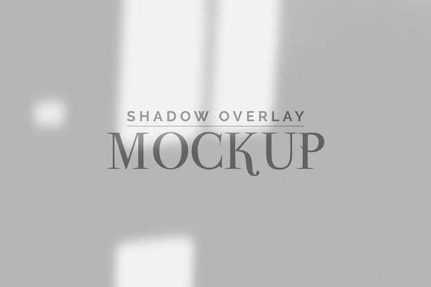 Window organic shadow mockup